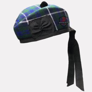 Douglas Blue Tartan Glengarry Hat