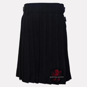 black kilt plain