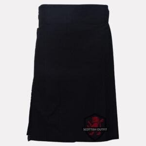 plain black kilt