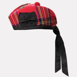 Royal Stewart Tartan Glengarry Hat