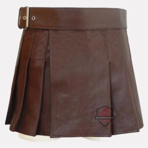 brown leather kilt