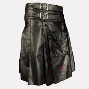 Fetish Leather Kilt side