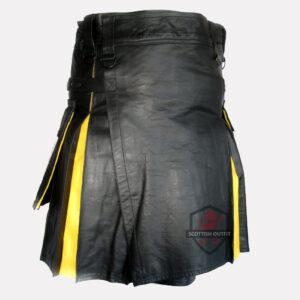 hybrid leather kilt