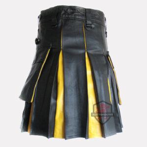 hybrid leather kilt back