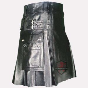 Kanye Leather Kilt
