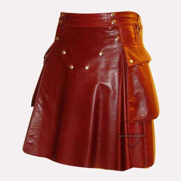 Leather Kilt Mens