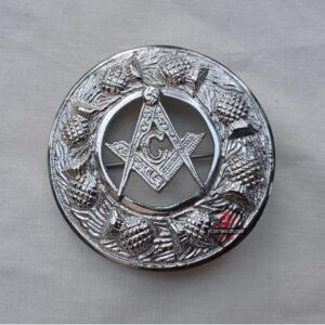 Masonic Kilt Fly Plaid Brooch