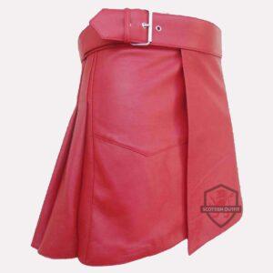 Pink Leather Kilt