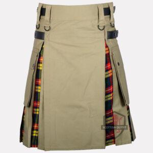 buchanan-tartan-pleats-khaki-hybrid-kilt