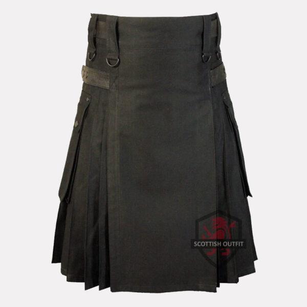 black-tartan-kilt