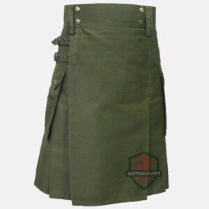 olive-green-kilt-front