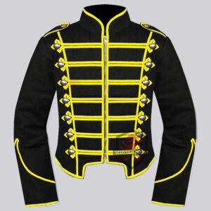 mens_black_yellow_military_drummer_jacket_mens_gothic_style_military_coat